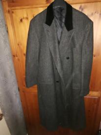 Men's large grey and black overcoat