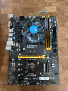 Biostar TB250 Motherboard and Intel Cpu 3.3Ghz with 8gb ddr4 ram