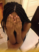 Three-Four hours maxx. Professional Braids,Twists,Weave, Conrows