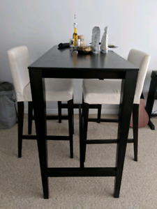 High top dining table and 2 chairs