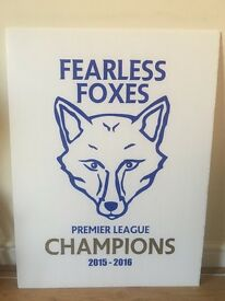 LCFC premier league champions wall sign
