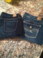 American Eagle jeans size 16 and 18