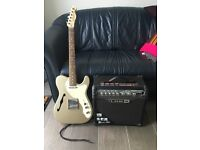 Guitar - Squier by Fender Telecaster with Spider III amp
