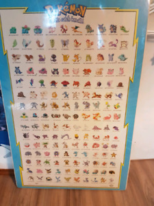 Pokemon poster Nintendo 1998