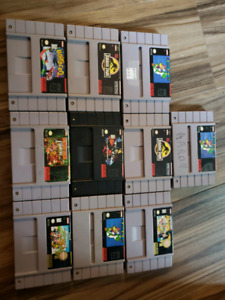 Snes games all working order . Send an offer