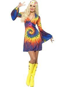 Ladies-Hippy-Tie-Dye-Costume-60s-70s-Fancy-Dress