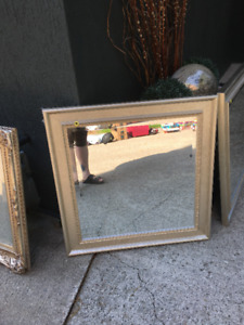 PAIR OF SILVER GILDED Mirrors - STUNNING