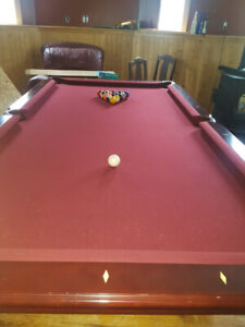 SOLD.  8ft Spensor Marsten Pool Table - excellent condition.