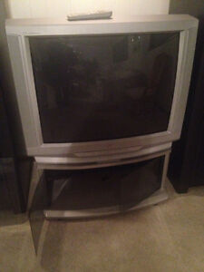 "37"" TV CRT with stand"