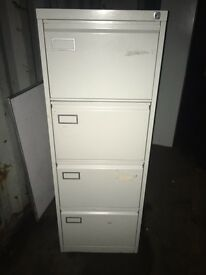 Metal 4 drawer filing cabinet key included