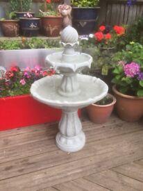 White/grey fountain