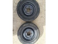 4x wheels and tyres to fit ifor Williams trailer