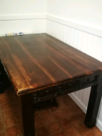 Indonesian Hardwood Dining Table + 4 Chairs