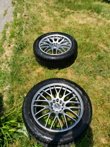 18×8 5x114.3/5×120 Msr rims with brand new Hankook winter tires