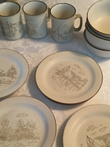 Vintage Manoir dishes dishwasher and microwave safe