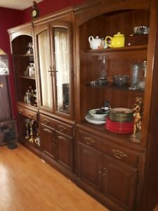 Wall Unit in Dark Oak located in Alban/French River