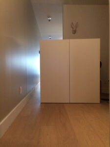 IKEA storage unit & Tempered glass table or office table