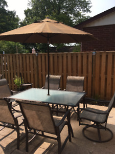 Patio Table & Chairs - 10 piece set