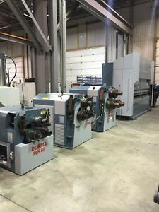 CNC LATHES, MILLING MACHINES, BANDSAWS,PRESS BRAKE,HYDRAULIC