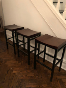 Two stools for kitchen island or bar for sale.