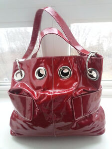 "Gorgeous Red ""Roxbury"" Patent Leather Bag"