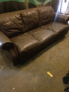 Brown editions leather couch