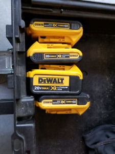 Dewalt 20v cordless saw and batteries
