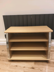 Wooden TV Cabinet on wheels in good condition