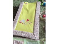 Changing mat, musical mobile and nappy stacker