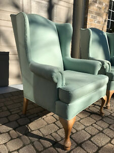 Set of Two Classic Wingback Chairs