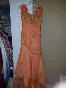 Beautiful orange grad/prom dress