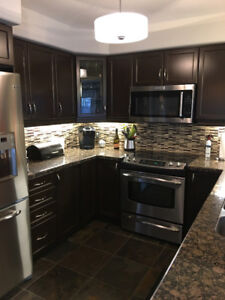 Used Granite Kitchen Countertop- Baltic Brown.