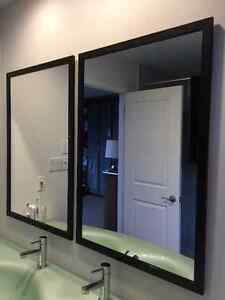 2 Framed Contemporary Bathroom Mirrors