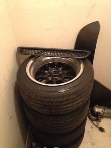 Civic 4x100 rims and tires for sale!!