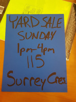 YARD SALE~ Sept 17th 7am to 4pm