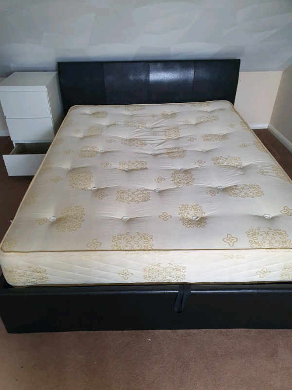 Fantastic King Size Faux Leather Ottoman Bed In Gravesend Kent Pdpeps Interior Chair Design Pdpepsorg