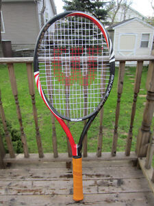 "2 - Human Size - 55"" Tall and 23"" Wide Head Tennis Racquet"