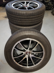 235/55 R17 Michelin Defender All Season Tires with Rims