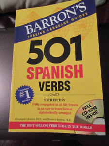 Barron's 501 Spanish verbs - CD Rom included. Good condition