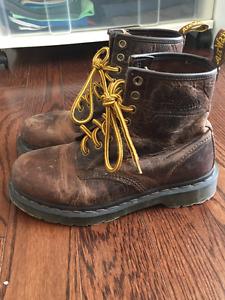 Authentic Dr. Martens Original 1460 Brown Unisex Leather Boots