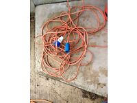 Caravan electric hook up cable
