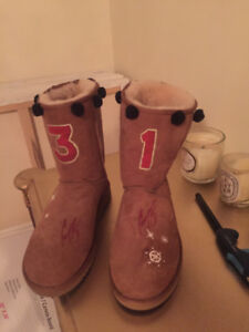 Carey Price signed authentic Ugg boots