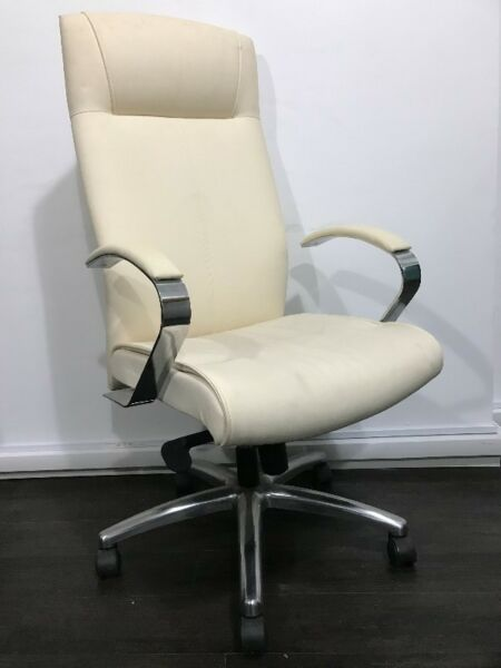 High Back Chair In PU Finish