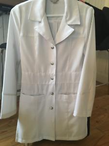 Sarrau de laboratoire blanc, pour femme, extra-small