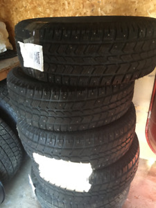 Tires brand new   255-70-16, 245-75-17