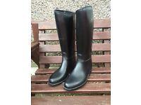 Ladies Black Horse Riding Boots