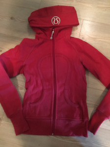 lululemon Scuba Hoodie- cotton fleece- Size 2- red- $30.00