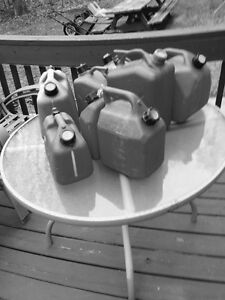 Asortment Of 1-3 Gal Gas Containers
