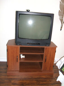 Older Model TV and Stand