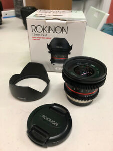 Rokinon(same factory as the SAMYANG ) 12mm T2.2 Cine lens